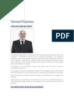 DEFINICIÓN DE TÉCNICAS PROYECTIVAS