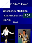 Lecture 1 Emrgency medicine