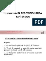 Strategia in Aprovizionarea Materiala