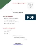 3 Leaves Working Drawings