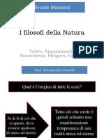 I Filosofi Della Natura