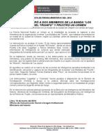 """POLICÍA CAPTURÓ A DOS MIEMBROS DE LA BANDA """"LOS MALDITOS DEL TRIUNFO"""" Y FRUSTRÓ UN CRIMEN.doc"""