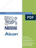 Group 7 if Project Nestle and Alcon Listing