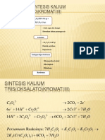 Cara Kerja Sintesis Kalium Tris(Oksalato)Kromat(III)