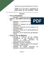 Ley 5-2000 de Responsabilidad Penal Del Menor Refundida
