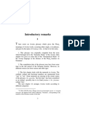 Avesta Glossary Text | Grammatical Gender | Grammatical Number
