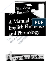 079 - A Manual of English Phonetics and Phonology Twelfe Lessons With an Integrated Course in Phonetic Transcription Narr Studienb Cher Twelfe Lessonssssssss