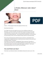 21 Tipps gegen Pickel Und Akne