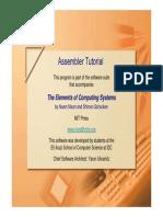 Assembler Tutorial