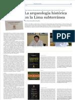 La Arqueologia histórica en la Lima Subterránea