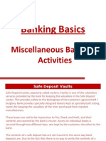 Miscellaneous Banking Activities