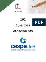 101 - Questoes CESPE - Atendimento