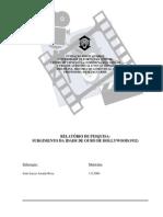 Relatorio sobre Historia do Audiovisual 1, da Universidade de Fortaleza