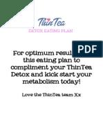 ThinTea Eating Plan