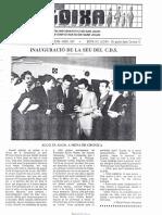 LLOIXA. Número 59, abril  1987. Butlletí informatiu de Sant Joan. Boletín informativo de Sant Joan. Autor