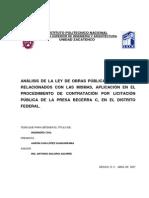 Analisis de Ley de Obra Publica Federal