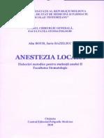 Anestezia Locala Elab. Metodice Pentru Studentii Anului II Fac. Stomatologie