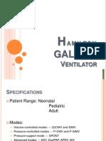 Hamilton GALILEO Ventilator