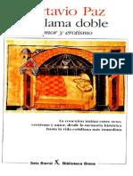 Octavio Paz - La Llama Doble - Amor y Erotismo