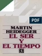 Heidegger - El ser y el tiempo - José Gaos trad