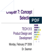 Concept Selection Methods