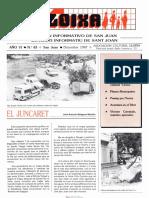 LLOIXA. Número 63 diciembre/desembre, 1987. Butlletí Informatiu de Sant Joan. Boletín informativo de Sant Joan.  Autor