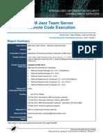 IBM Jazz Team Server RCE Advisory
