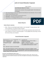 student objective  general education component