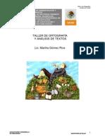 Manual Taller de Ortografia y Analisis de Textos
