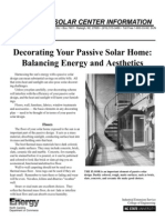 Decorating Your Passive Solar Home