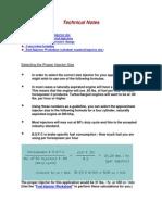 Calculating Fuel Injector Pressure