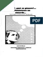 Fanz Morales Genero Feminismo No Muerde
