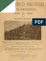 Los 7 árboles forestales más recomendables para el país.1909