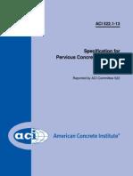 ACI Specification for Pervious Concrete Pavement