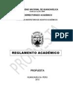 Reglamento Academico 2013 Unh