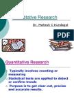 Quantative Research