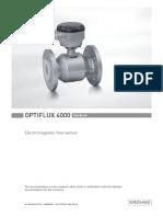 Krohne Optiflux 4000 Manual