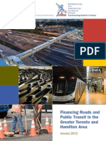 Financing Roads and Public Transit in the Greater Toronto and Hamilton Area. Independent Study Commissioned by RCCAO - 2013,  by Harry Kitchen and Robin Lindsey