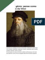 Seja um gênio pense como Leonardo da Vinci