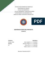 GESTIÓN DE COSTO DEL PROYECTO