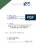 Teoría de la Información y Transmisión de Datos - TI U2 v1