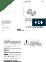 Manual Sony HDR XR150