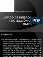 Lavado de dinero y protección de datos