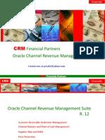 Oracle Channel Revenue Management CRM