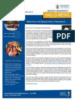 Massey Manawatu Halls News Issue One 2014