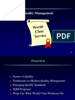 Quality I- Basics