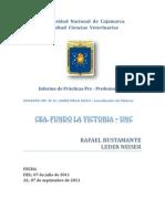 Prácticas Pre-Profesionales – CEA. FUNDO LA VICTORIA – UNC