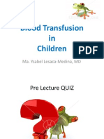 pediatric transfusion