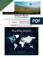 SVBC Website Report-2014 Annual Meeting