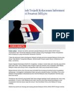 Malaysia Bantah Terjadi Kekacauan Informasi Dalam Mencari Pesawat MH370